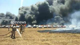 Fire Accident.//Air show 2019//Fire accident At Airshow parking//Hundreds of Vehicle on fire