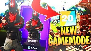 New Burnout Outfit in Fortnite Battle Royale!! New Skins and NEW Teams of 20 UPDATE in Fortnite!!