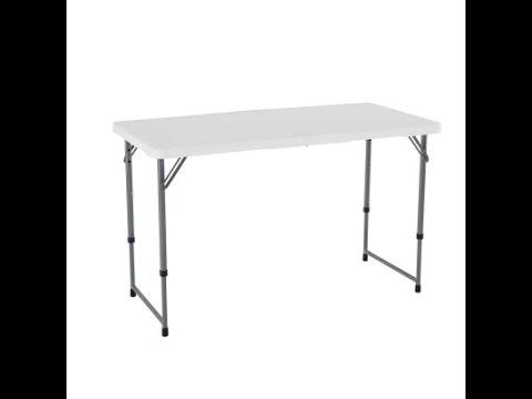 4foot light commercial adjustable foldinhalf table