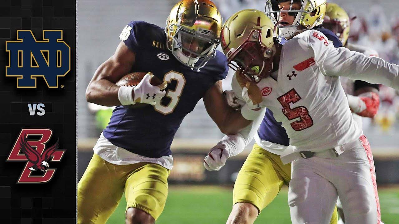 Notre Dame Vs Boston College Football Highlights 2020 Youtube