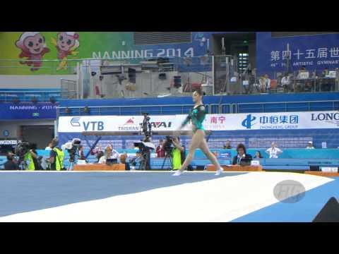 MUSTAFINA Aliya (RUS) – 2014 Artistic Worlds, Nanning (CHN) – Qualifications Floor