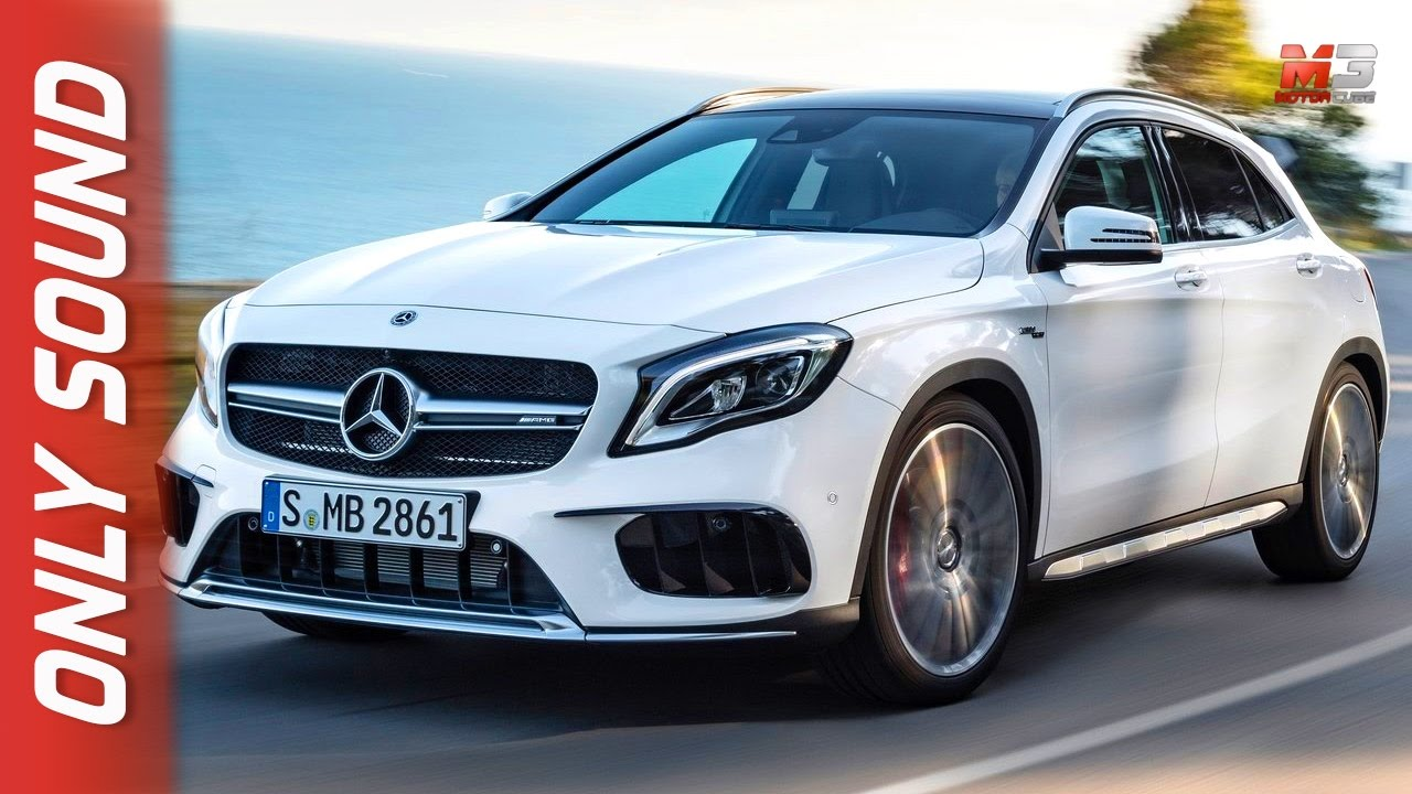 new mercedes amg gla 45 4matic 2017 first test drive only sound youtube. Black Bedroom Furniture Sets. Home Design Ideas