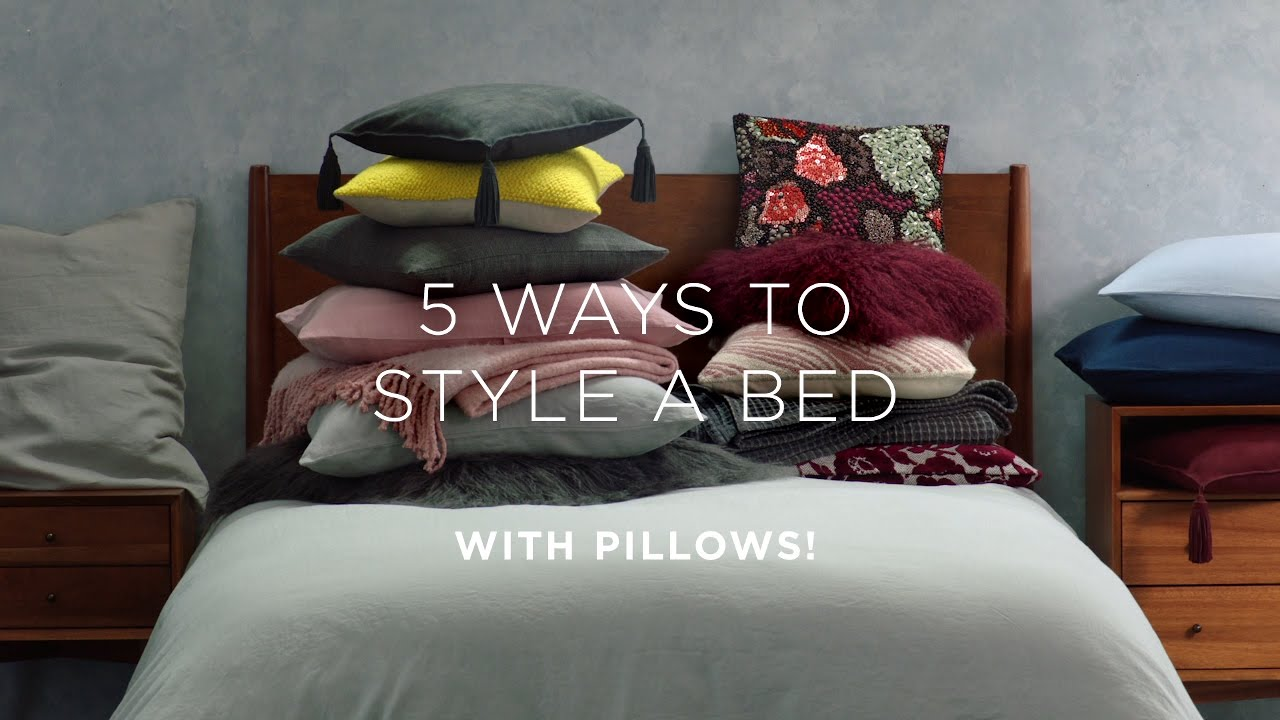 How To Layer Your Bed Style Your Pillows Youtube