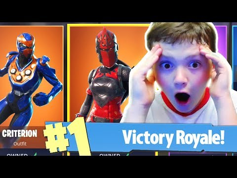 RED KNIGHT + CRITERION Skins Unlocked! New Fortnite FREE Skins Update! (New Skins)
