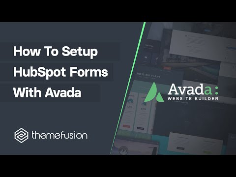 How To Set Up Hubspot Forms With Avada