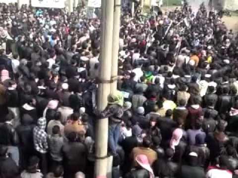 13 1 Tseel Daraa أوغاريت تسيل حوران , مظاهرات جمعة دعم الجيش السوري الحر