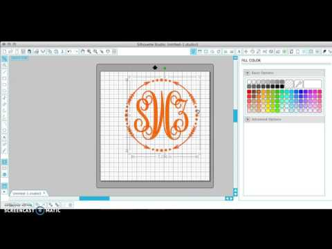 How To Make A Monogram In Silhouette Studio