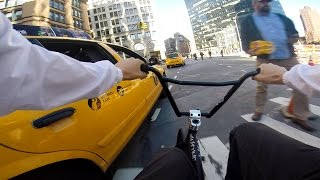 GoPro BMX Bike Riding in NYC Traffic