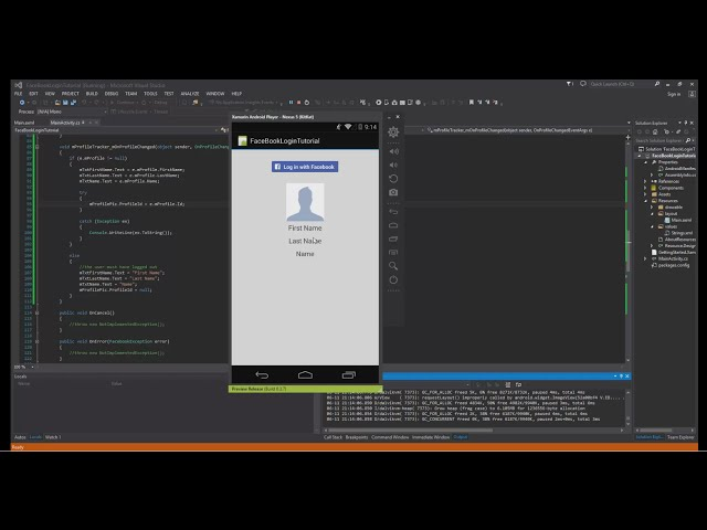 Xamarin Android Tutorial   70   Facebook Profile Picture