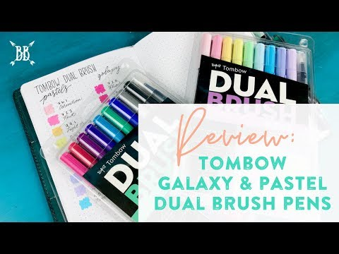 Ships Free! TOMBOW Dual Brush Pen Art Markers 10-Pack Pastel Palette Set NEW