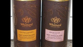 Whittard of Chelsea Hot Chocolate: Salted Caramel Flavour & Rocky Road Flavour Review