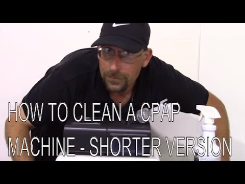 How to clean a CPAP machine - The shorter version