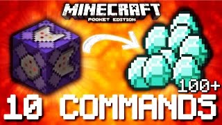 Minecraft Pocket Edition - 10 AWESOME COMMAND BLOCK COMMANDS! (Map)