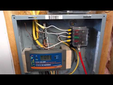 Off-Grid Tiny House - Solar Battery Bank and Electrical