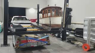 You do NOT have to disassemble a 4 Post lift to move it!