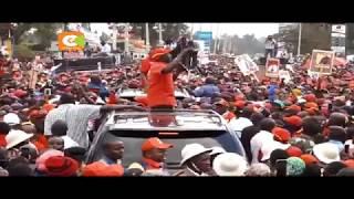 Rais na naibu wake wapeleka kampeni kaunti ya Nyeri