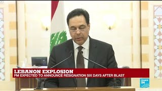Lebanese PM announces government's resignation over Beirut blast