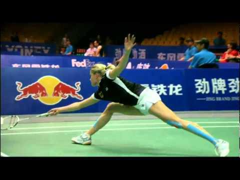 Qtr. Finals - China (Wang X.) vs Germany (C.Bott) - Uber Cup 2012