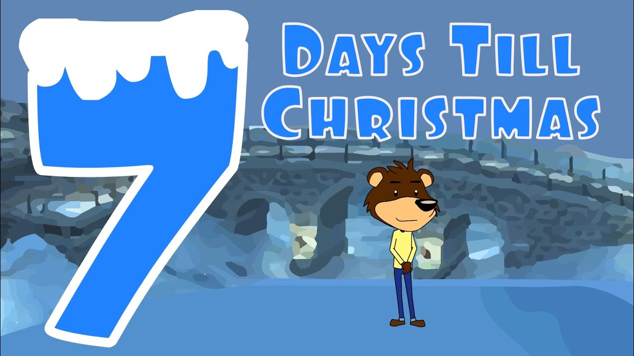 Christmas Countdown Song | Seven Days Till Christmas | Numbers ...