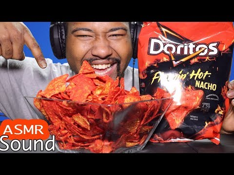 Doritos Flamin Hot Nacho ASMR - Loud  Eating Sounds