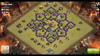 Clash of Clans TH7 vs TH8 Dragon & Balloon (Dragloon) Clan War 3 Star Attack
