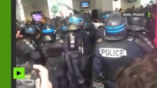 Paris : action coup de poing à la gare Saint-Lazare