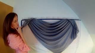 Пошив штор ,ламбрекенов своими руками. Раскладываем сваг на стенде Сваги, кокилье, перекиды. Урок 2