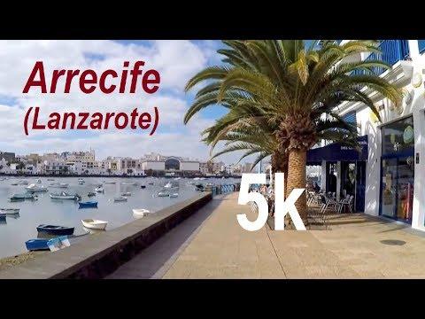 Virtual City Running - 5K Around Arrecife - Capital Of Lanzarote (Canary Islands)