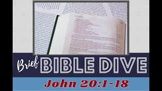 Brief Bible Dive: John 20:1-18 Jesus's Tomb and the Ark of the Covenant
