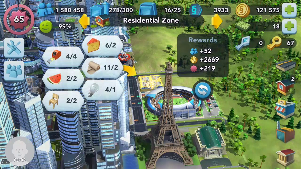 simcity buildit 66 уровень