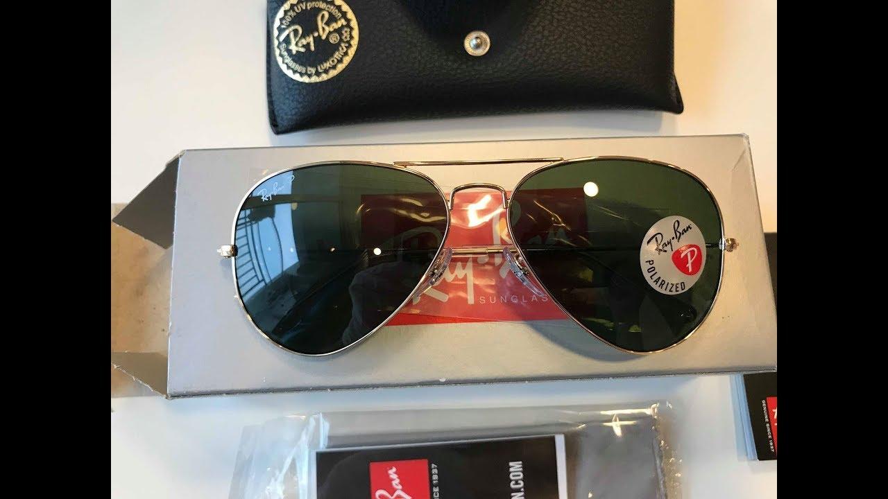 2e8cdeea7 Xship.vn: RAY-BAN Aviator Green Polarized Sunglasses RB3025 001/58 58-14
