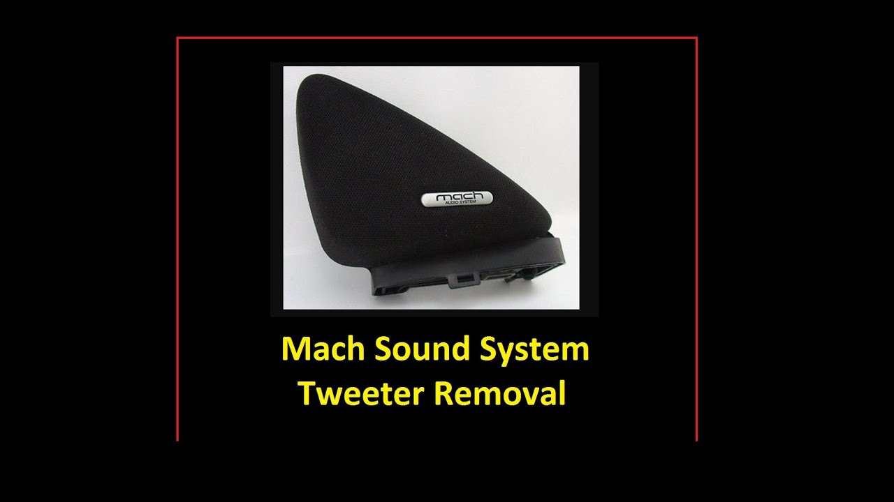 Mustang Tweeter Removal Mach 460 Sound System Youtube Ford
