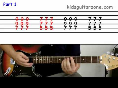 guitar lesson 2b beginner 39 wild thing 39 on one string doovi. Black Bedroom Furniture Sets. Home Design Ideas