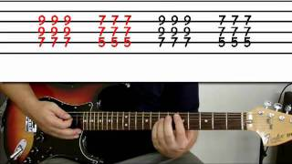 guitar lesson 9 : beginner -- how to play 'beat it' using power chords