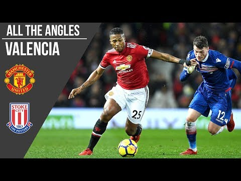 Antonio Valencia v Stoke City Goal | All the Angles | Manchester United
