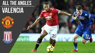 Antonio Valencia v Stoke City Goal | All the Angles | Manchester United