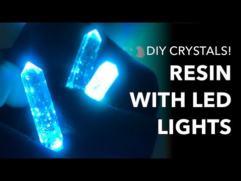 Using Resin with LEDs: Wearable Tech Illuminated Crystal Tutorial