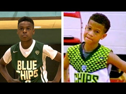 Lebron James jr vs Steph Curry jr (aka Camron Amboree) Basketball Highlights Mix
