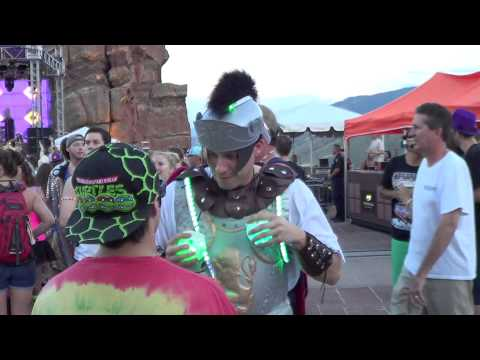 Global Dance Festival 2013 july 21 - LED music activated roman outfit