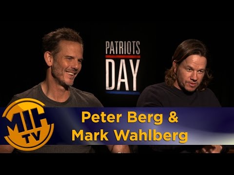 Peter Berg & Mark Wahlberg Interview Patriots Day