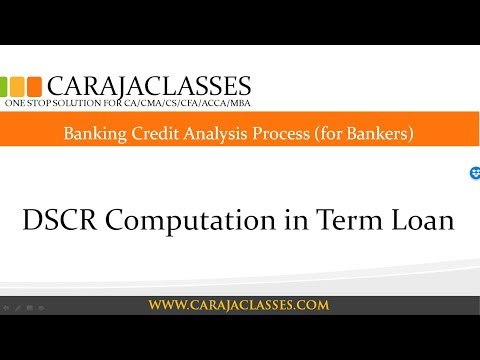 DSCR Computation In Term Loan | Banking Credit Analysis | Credit Appraisal | Project Appraisal |FOIR