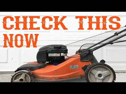Do This To Your Lawn Mower Right Now - Video