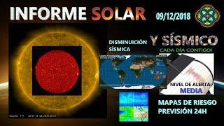 09/12 INFORME SOLAR Y SÍSMICO - DISMINUCIÓN SÍSMICA