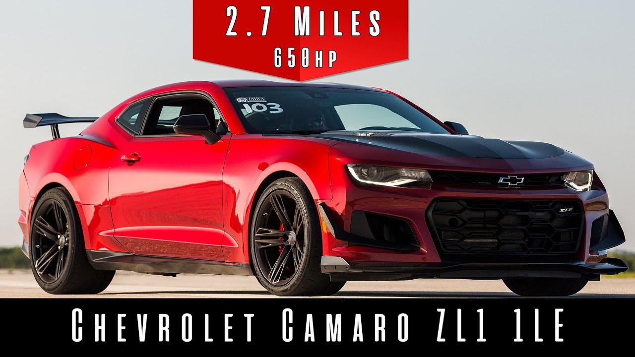 2019 Chevrolet Camaro Zl1 1le Top Speed Test Youtube