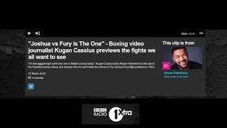 ANTHONY JOSHUA v TYSON FURY? - KUGAN CASSIUS ABSOLUTELY BOTTLES ANSWERING WHO WINS ON BBC 1XTRA