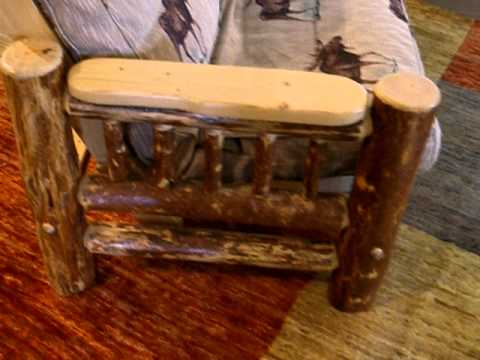 Rustic Log Futon In Chair Love Seat Full Queen Sizes