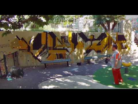 """It's """"Play Time"""" in Marseille - dirty graffiti by Verbo"""