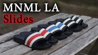 outlet store af661 45977 Best AFFORDABLE Slides For the Summer  Ft. MNML LA Striped Slides ...