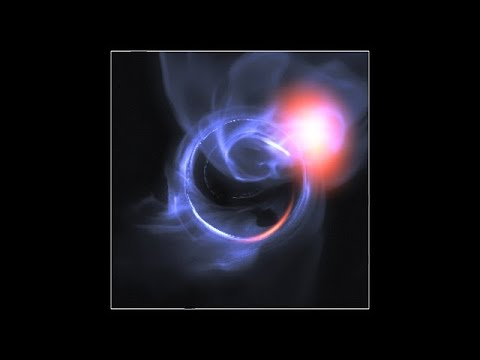 Simulation of Material Orbiting close to a Black Hole | ESO