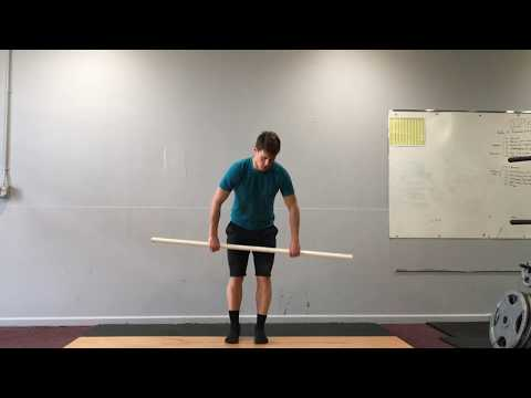 PVC clean and jerk warmup